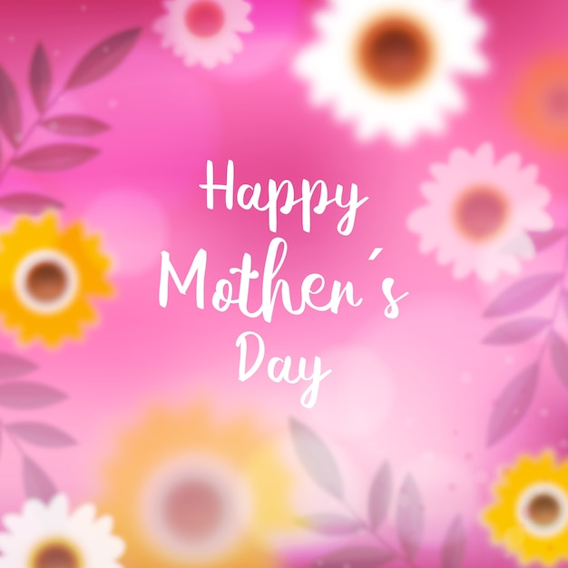 Blurred mother's day lettering Free Vector