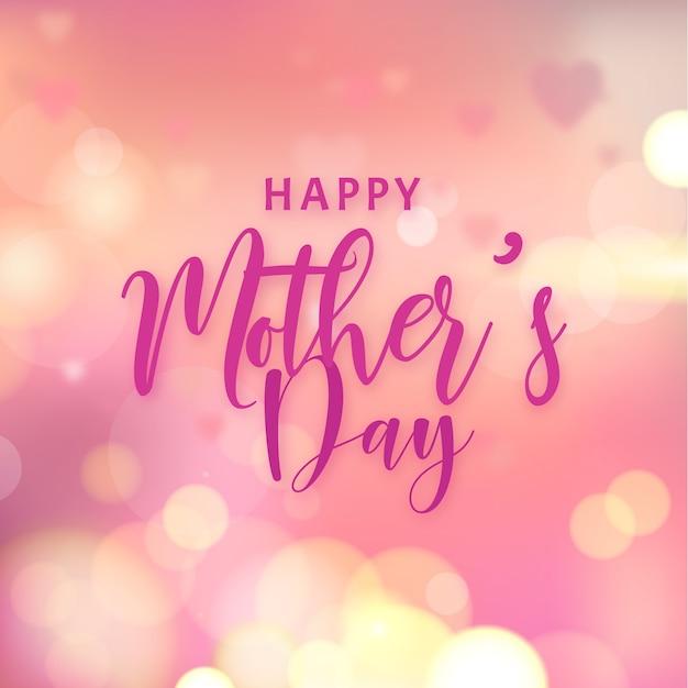 Festa della mamma vaga con effetto bokeh Vettore gratuito