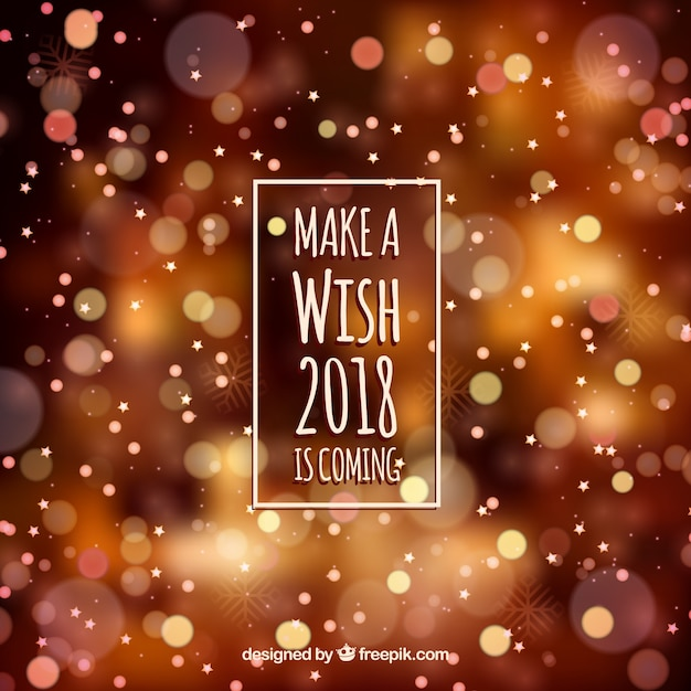 Blurred new year 2018 background in warm colors Vector ... Happy Holidays 2018