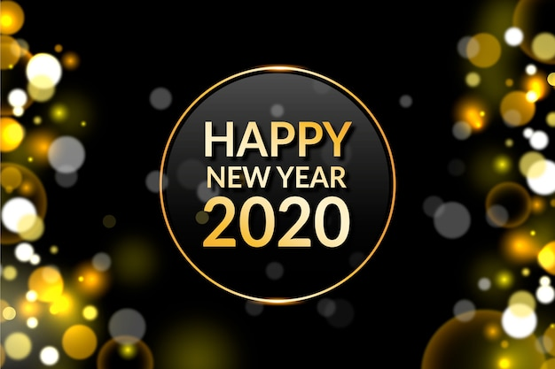 Blurred new year 2020 wallpaper Vector | Free Download