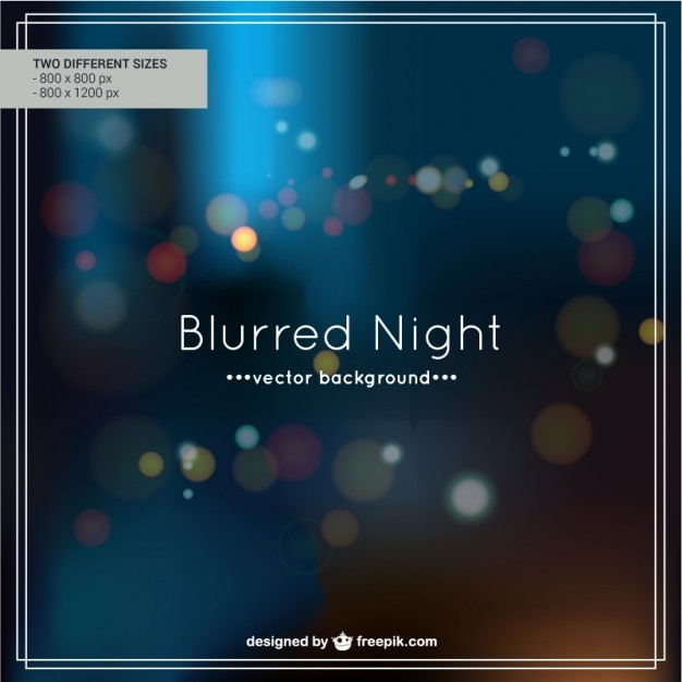Blurred night background design Free Vector