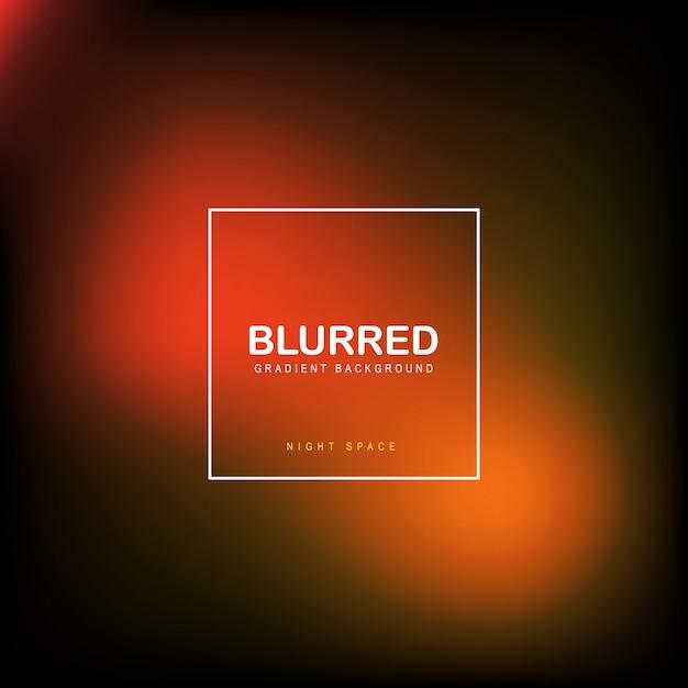 Blurred orange nigt sky background vector Premium Vector