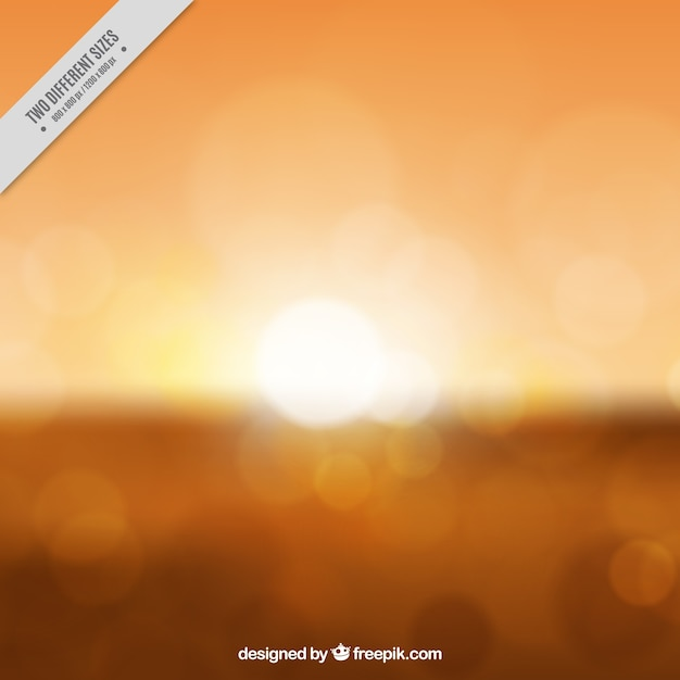 Blurred orange sunset background
