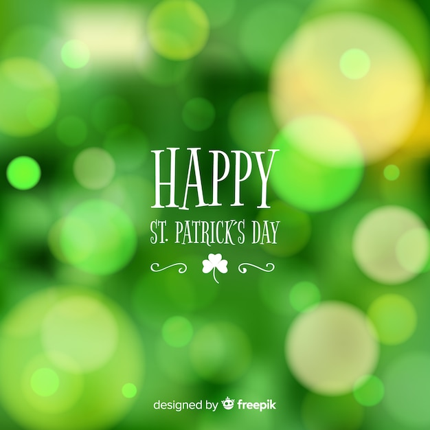 Blurred st. patrick's day background Free Vector