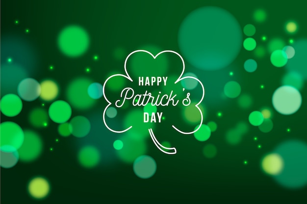 Blurred st. patrick's day Free Vector