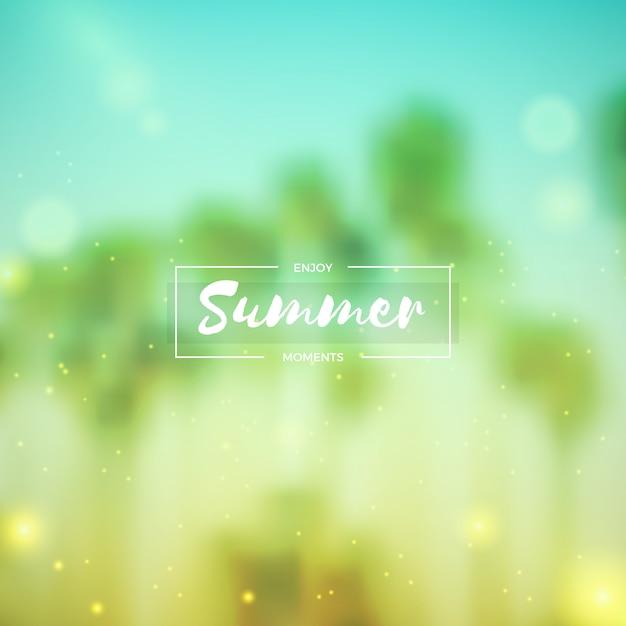 Blurred summer background Free Vector