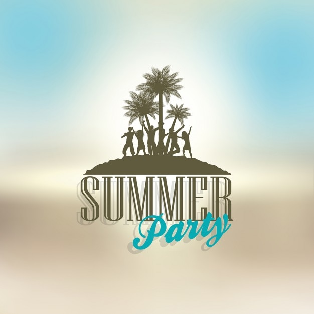 Blurred summer party background