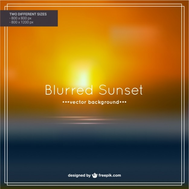 Blurred sunset background Free Vector