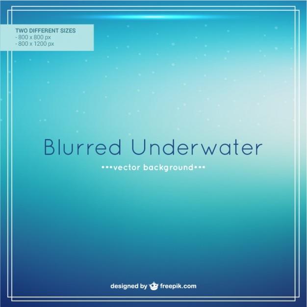 Blurred underwater background Free Vector