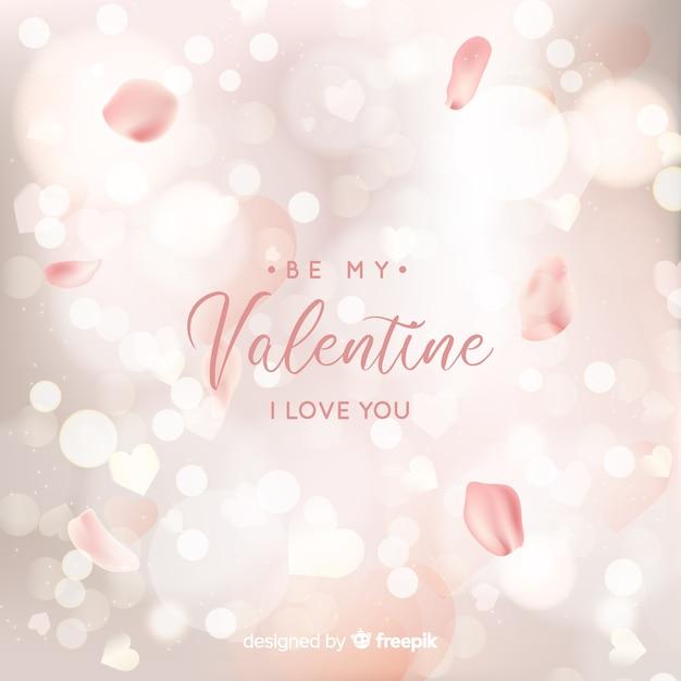 Blurred valentine background Free Vector