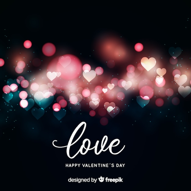 Blurred valentine background Free Vector
