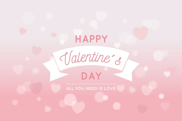 Blurred valentine's day background Free Vector