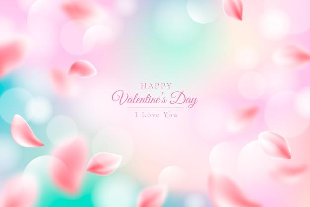 Размытый фон дня святого валентина Бесплатные векторы