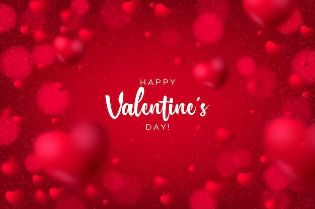 Sfondo sfocato di san valentino Vettore gratuito