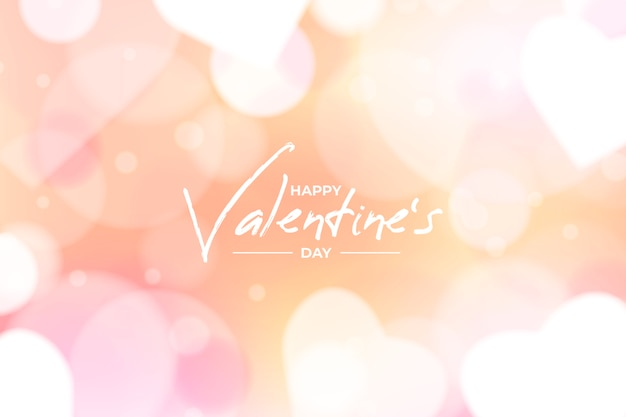 Blurred valentines day background concept Free Vector
