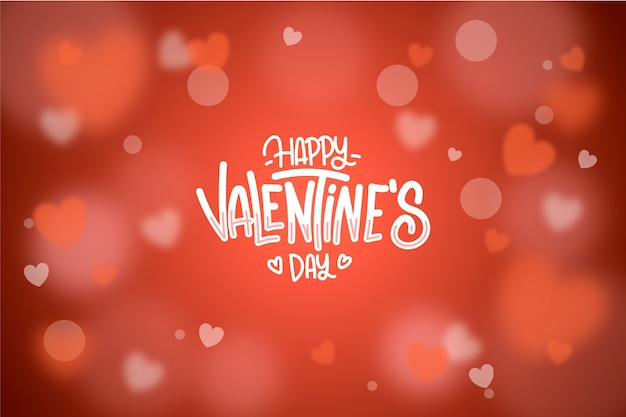Blurred valentines day background Free Vector