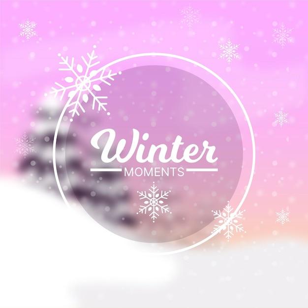 Размытый зимний фон Бесплатные векторы