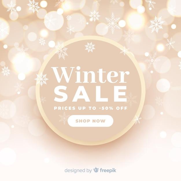 Blurred winter sale concept Free Vector