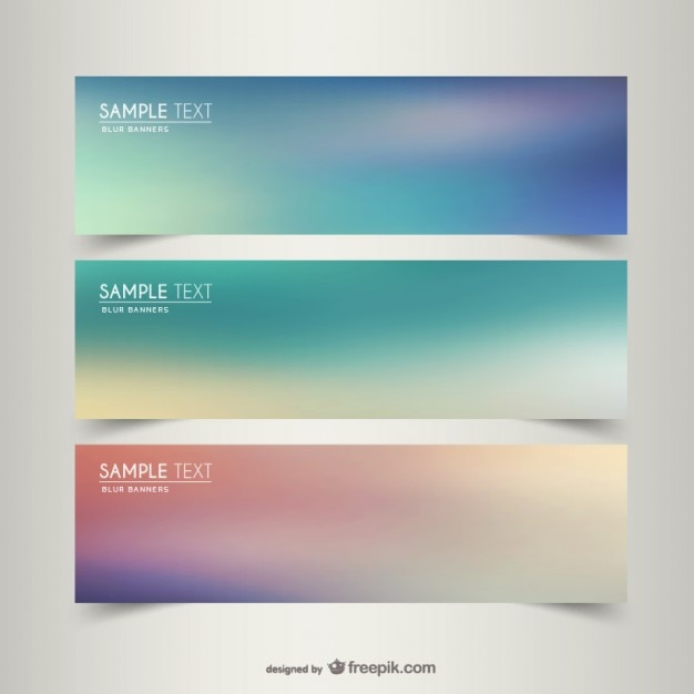 blurry banner templates vector free download