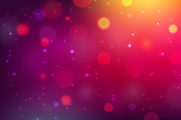 Blurry bokeh background concept Free Vector