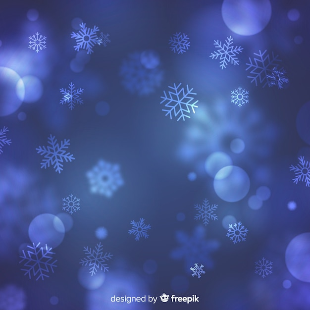 Blurry christmas background Free Vector