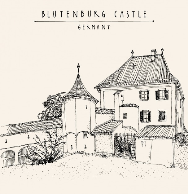 Blutenburg castle background design