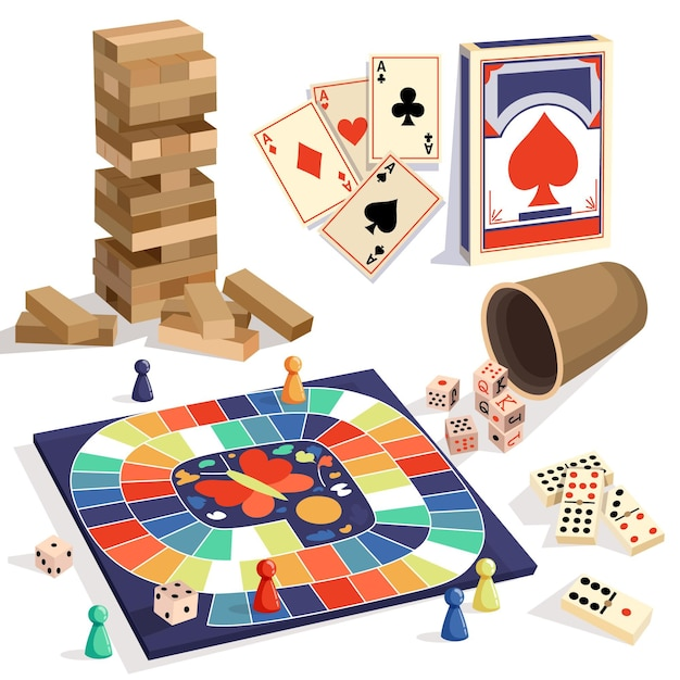 Board game collection Premium Vector