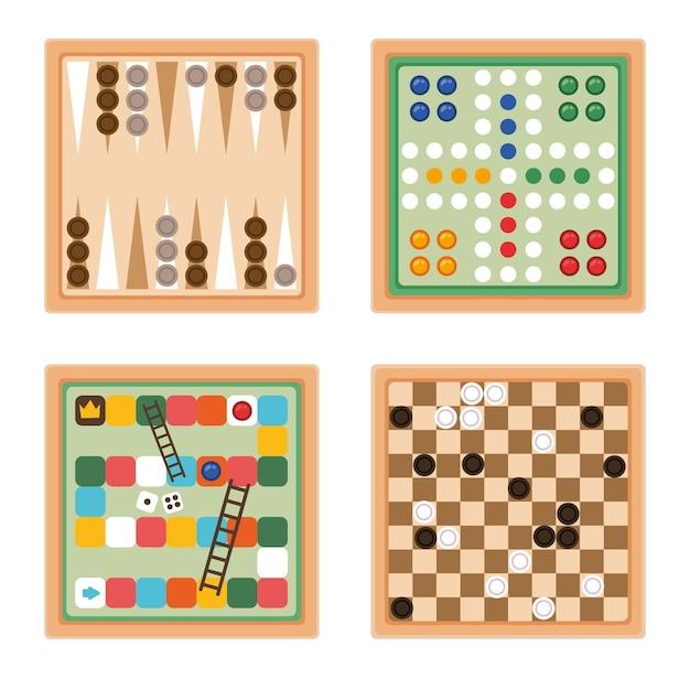 Board game collection Premium Vector