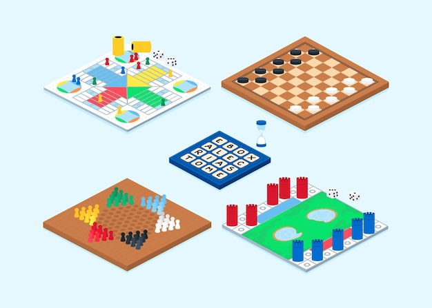 Board game collection Free Vector