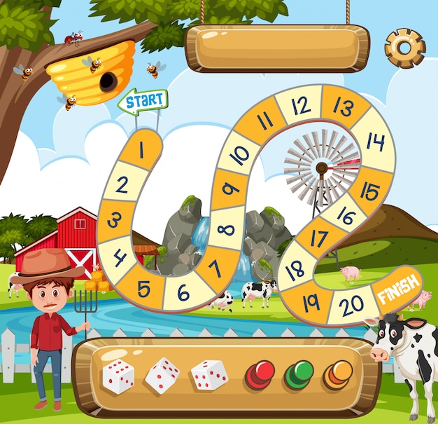 A board game template Premium Vector