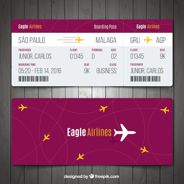 Boarding Pass Vectors Photos and PSD files – Boarding Pass Template