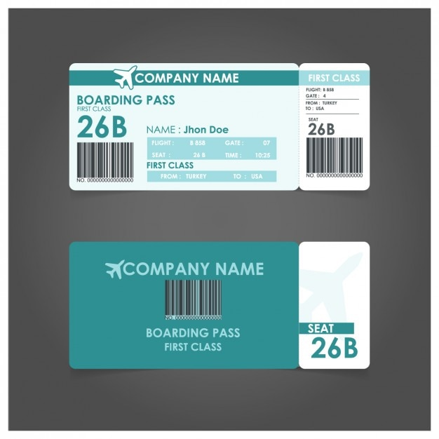 Boarding Pass Template Free Vector  Free Pass Template