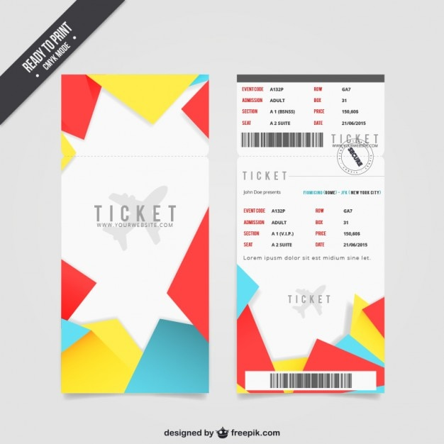 Boarding pass ticket Free Vector