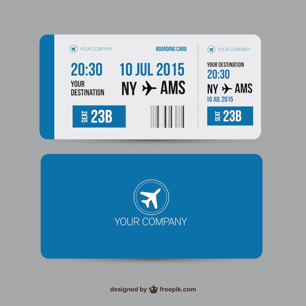 boarding pass template free - boarding pass vector premium download