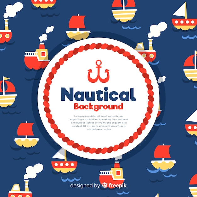 Boats nautical background Free Vector