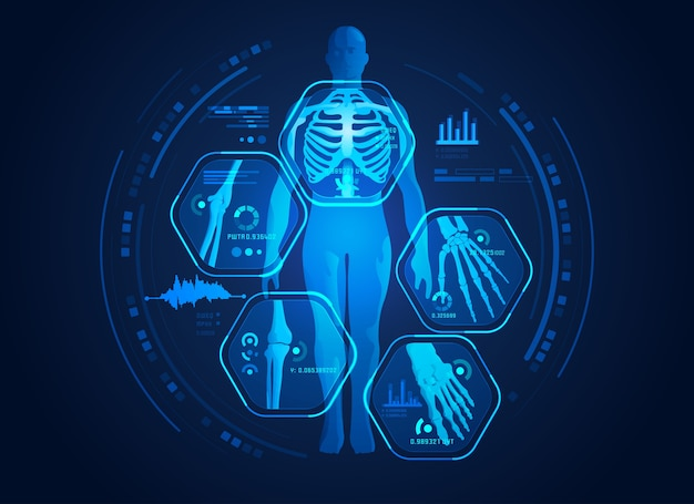 Body scan Premium Vector