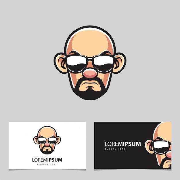 Телохранитель человек с очками Premium векторы