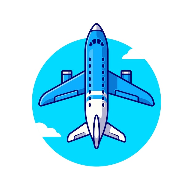 Boeing plane illustration Free Vector