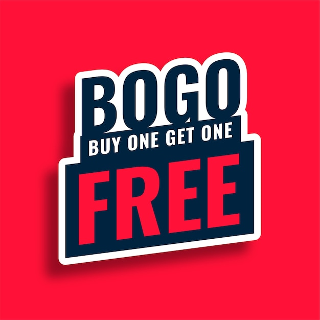 Bogo buy one get one free sale banner Free Vector