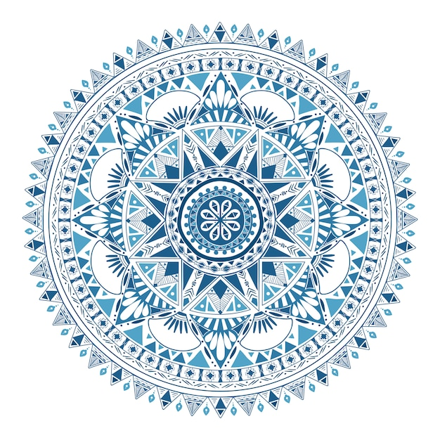 Boho pattern style graphic vector Free Vector