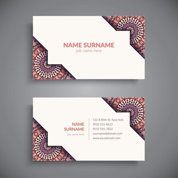 Download Vector Boho Style Business Card Design Vectorpicker