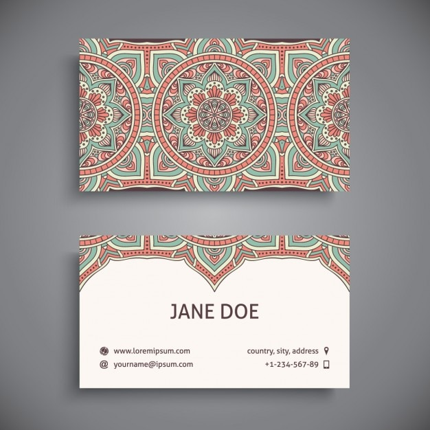 Boho style business card design vector free download boho style business card design free vector colourmoves