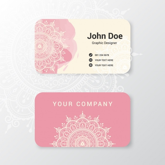 Boho style business card design vector free download boho style business card design free vector reheart Gallery
