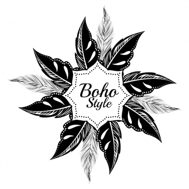 Boho style design Premium Vector