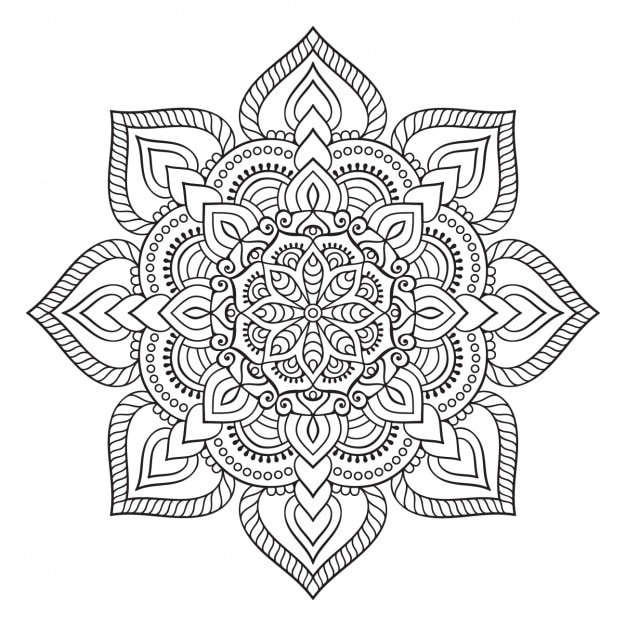 boho style ornament design vector