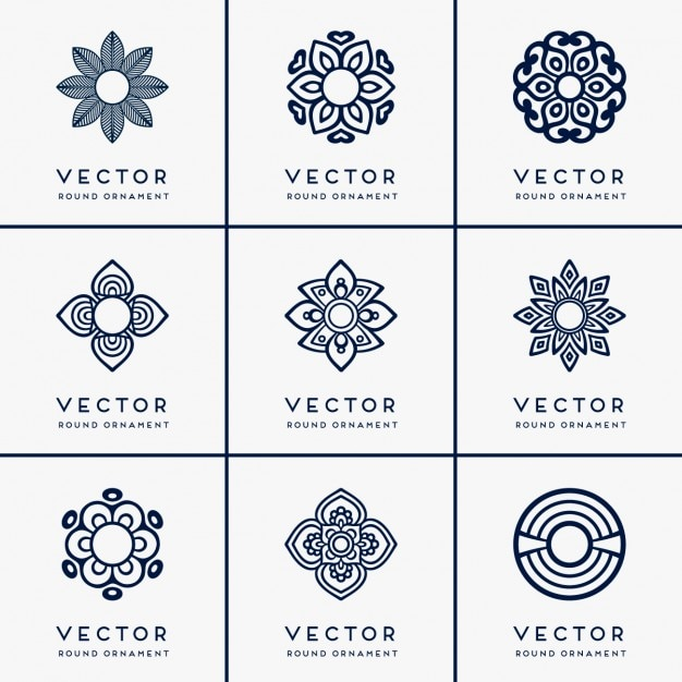 Boho style ornaments collection Free Vector