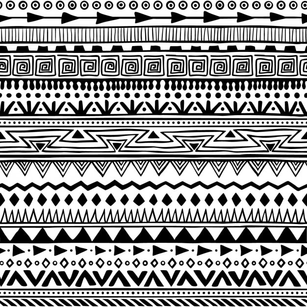 Boho style pattern Free Vector