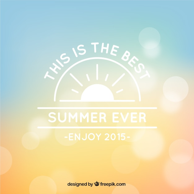 Bokeh background for summer Free Vector