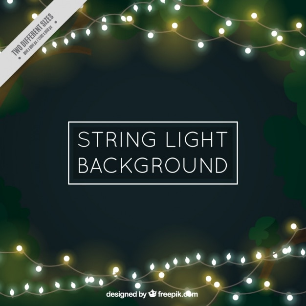 String Of Lights Background : Bokeh background of beautiful string lights Vector Free Download
