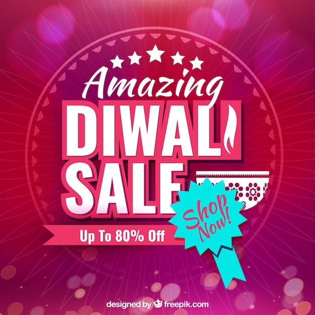 Bokeh background of diwali sales